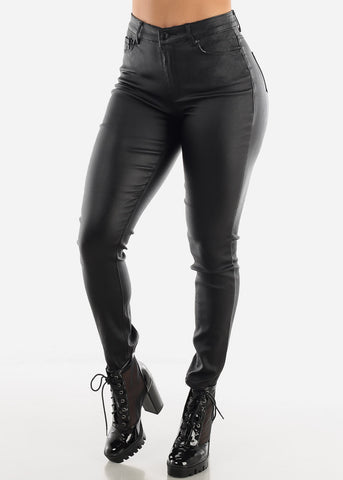 Black Shiny Pants