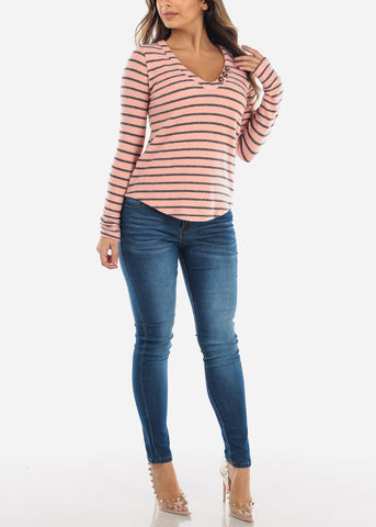 Image of High Rise Medium Wash Skinny Jeans