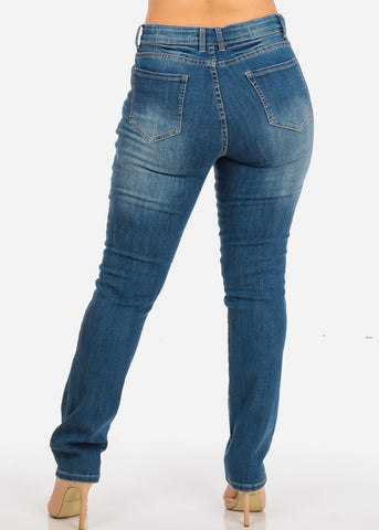 Image of NINE PLANET Plus Size Ripped High Rise Denim Jeans