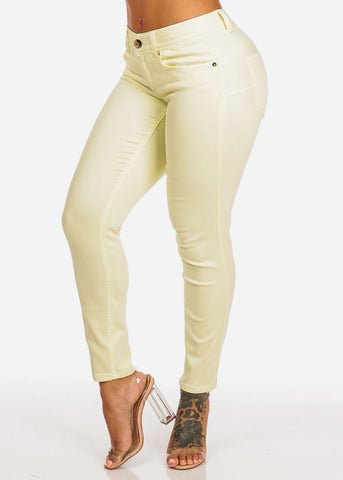 Cache Brand Lime Women's Cropped Skinny Pants