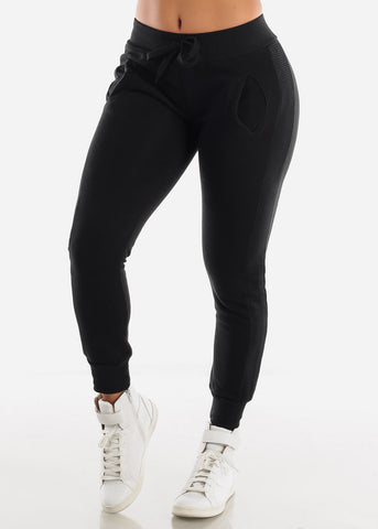 Image of Black High Rise Jogger Sweatpants