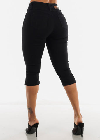 Black Butt Lifting Capris
