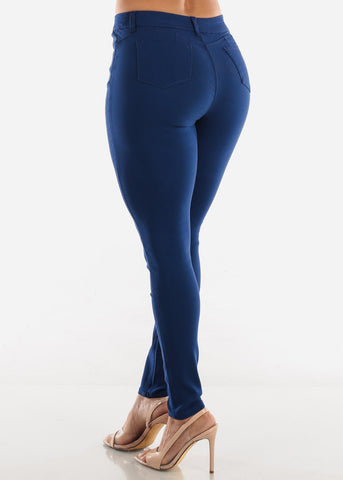 Image of High Rise Butt Lift Blue Pants