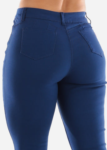 High Rise Butt Lift Blue Pants