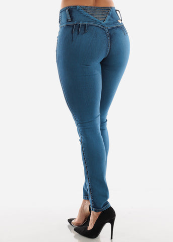 Image of Rhinestone Back Butt Lift Jeans