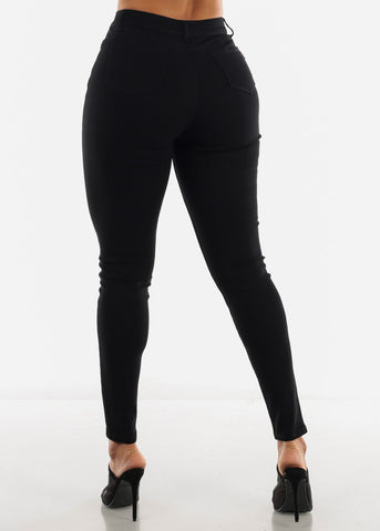 Image of High Waist Butt Lifting Black Jeans