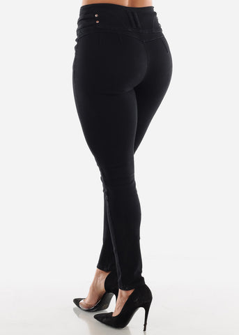 Image of Butt Lifting Black Jeans