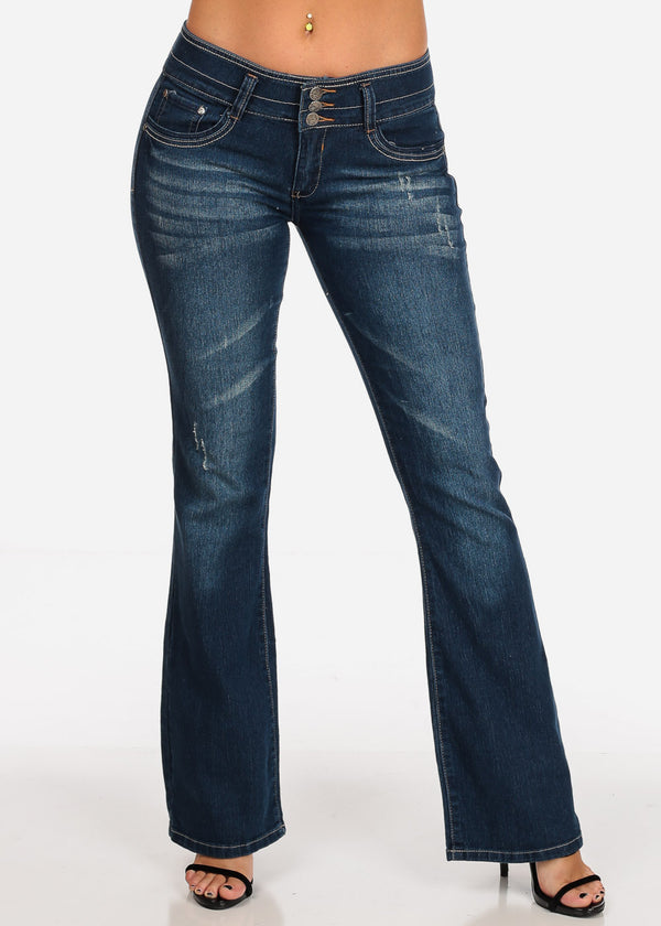 3f0848139 ... Butt Lifting Dark Wash Flare Jeans