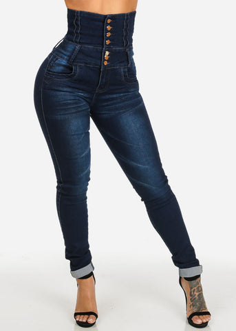 Image of Butt Lifting Ultra High Waist Skinny Jeans