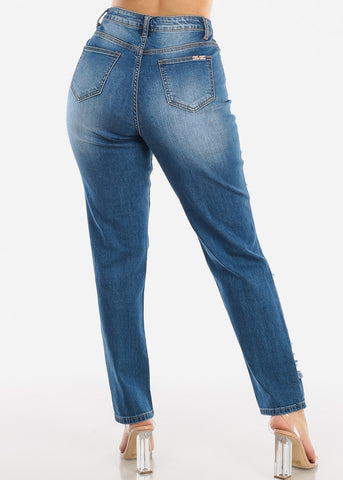 Image of Torn High Waisted Boyfriend Jeans