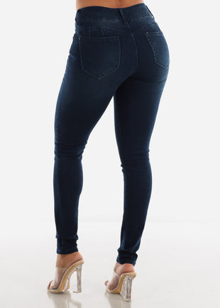 Levanta Cola High Rise Dark Skinny Jeans