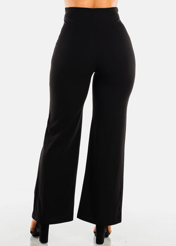 High Rise Black Palazzo Trousers