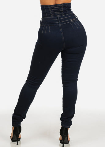 Image of High Corset Waist Levanta Cola Skinny Jeans