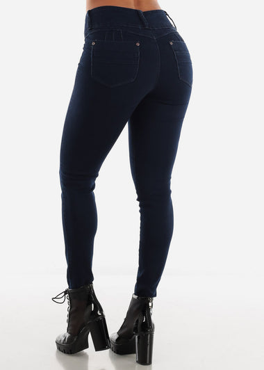 Levanta Cola Dark Blue Skinny Jeans
