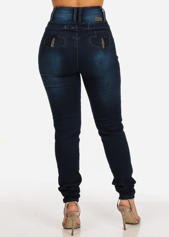 Image of High Rise Butt Lifting Skinny Jeans