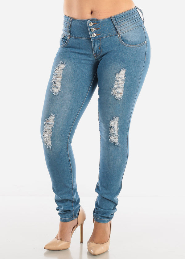 Butt Lifting Torn Skinny Jeans SIZES 13-15-17