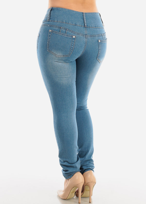 Plus Size Butt Lifting Torn Skinny Jeans
