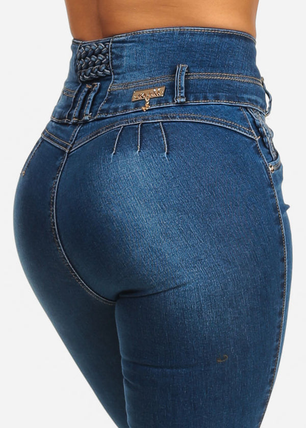 High Rise Butt Lifting  Slim Fit Skinny Jeans