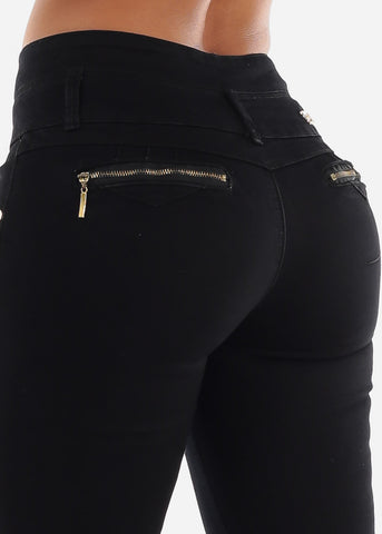 Image of Levanta Cola High Rise Black Skinny Jeans
