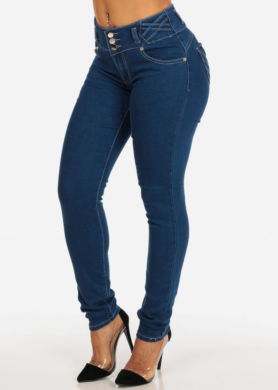 Med Wash Butt Lifting  Butt Lifting Skinny Jeans