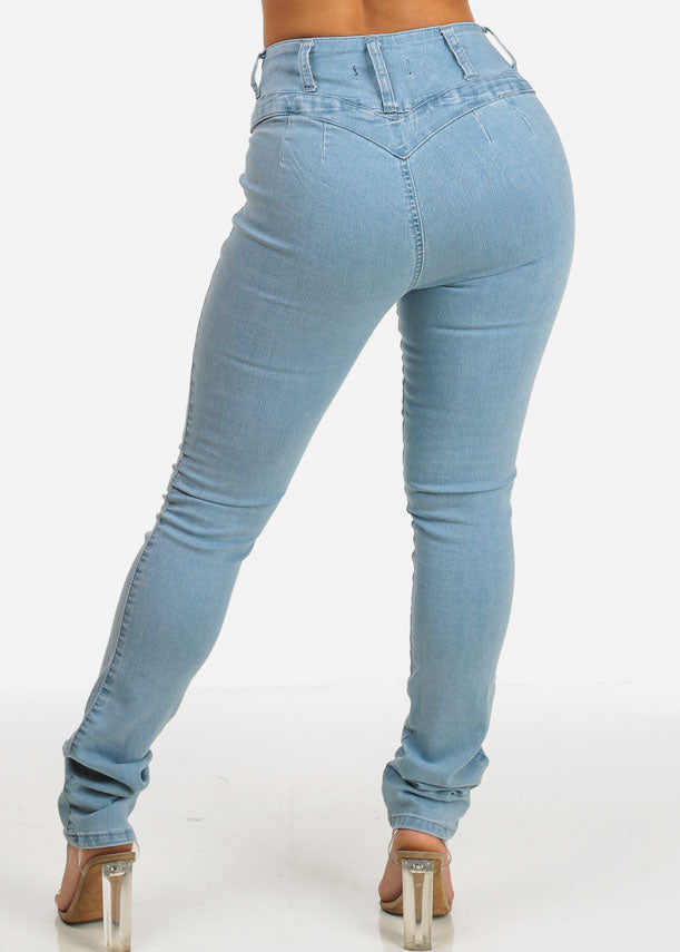 Butt Lifting Light Wash High Waist Skinny Jeans