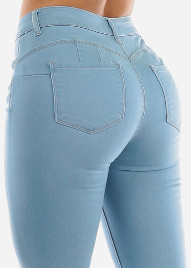 Light Wash Butt Lifting Light Wash Jeans