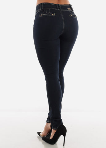 Image of Dark Blue Butt Lifting Jeans