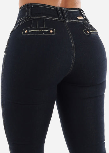 Dark Blue Butt Lifting Jeans