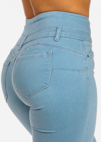 Image of High Waisted Levanta Cola Skinny Jeans