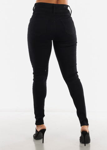 Image of Black High Waist Butt Lifting Jeans