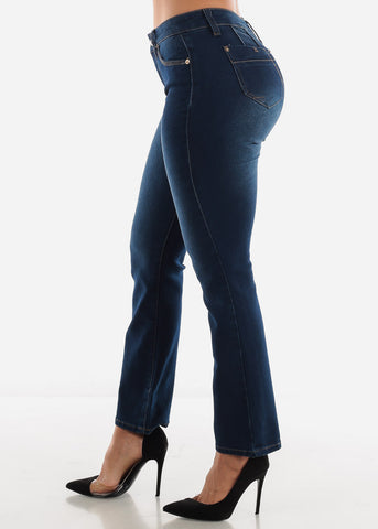 Image of Blue Boot Cut Denim Jeans