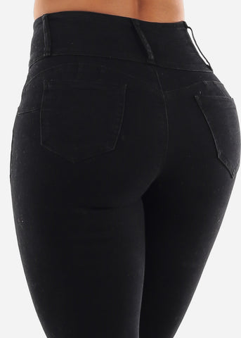 Image of Push Up Stretchy Black Skinny Jeans