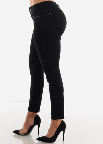 Image of Black Mid Rise Jeans