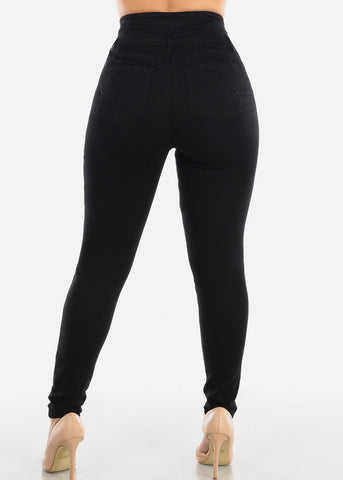 Plus Size Butt Lifting Black Jeans