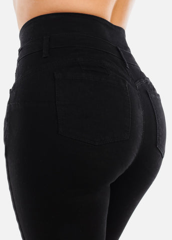 Image of Plus Size Butt Lifting Black Jeans