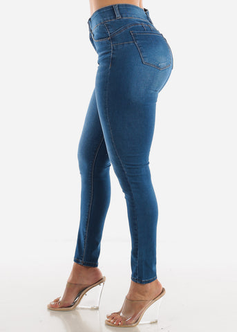 High Rise Butt Lift Ankle Jeans