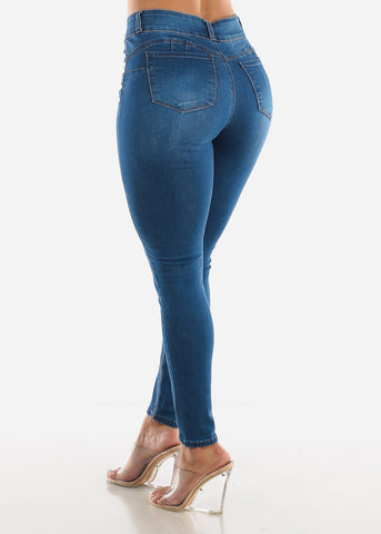 Image of High Rise Butt Lift Ankle Jeans