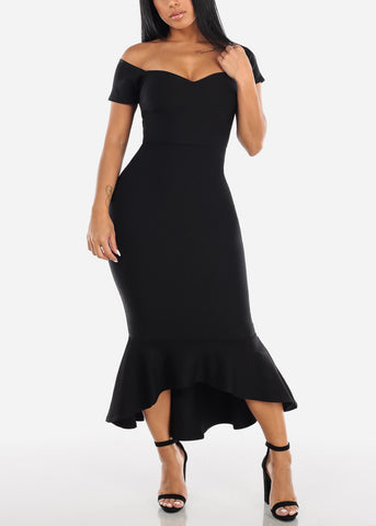 Image of Black Mermaid Dress
