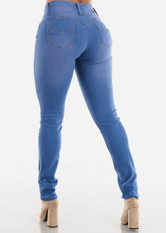Image of Sexy Soft Denim Whiskers Skinny Jeans