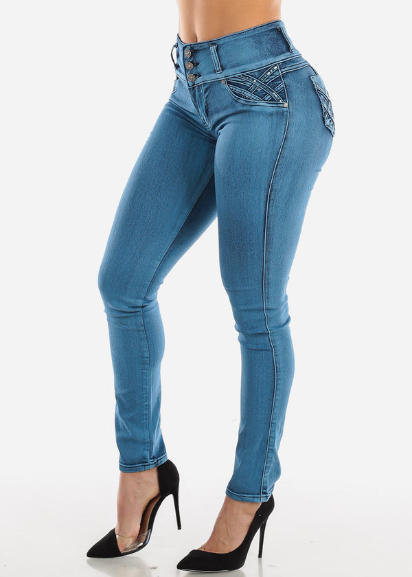 Levanta Cola Blue Wash Skinny Jeans