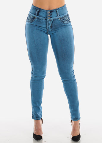 Image of Levanta Cola Blue Wash Skinny Jeans