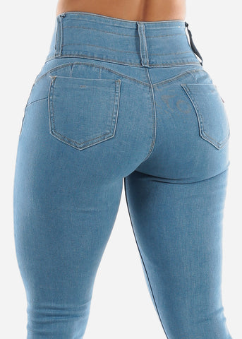 Image of Ripped Light Butt Lift Jeans