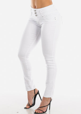 Image of Levanta Cola White Skinny Jeans