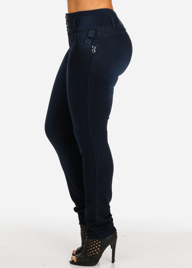 Mid Rise Butt Lifting Skinny Jeans