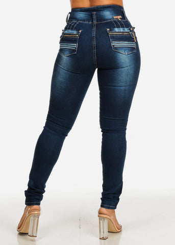 Ultra High Rise Butt Lift Skinny Jeans