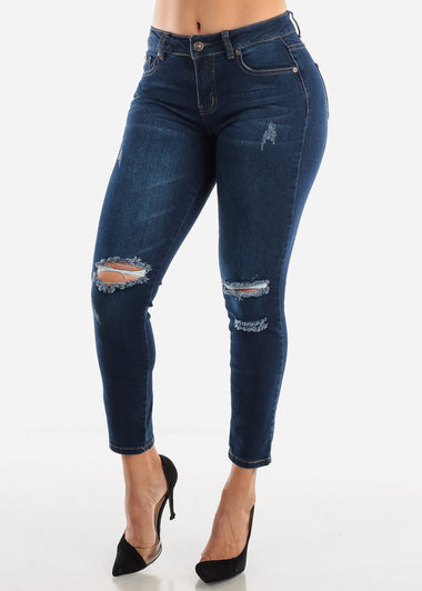 Knee Rip Ankle Jeans