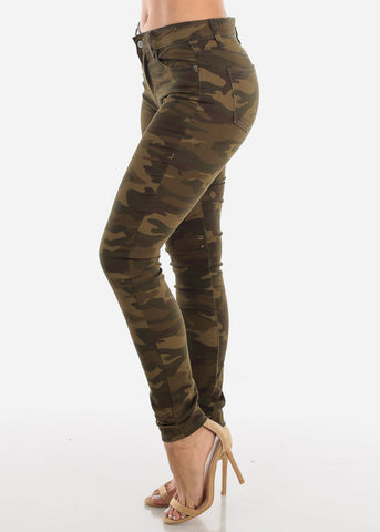 Image of High Rise Camo Skinny Jeans