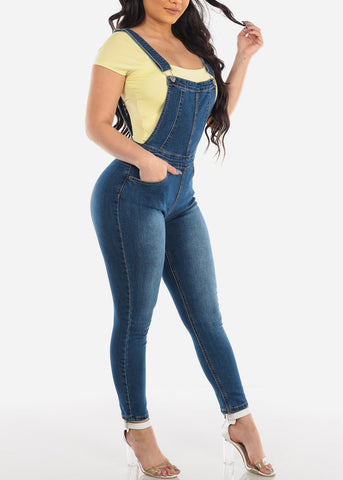 Dark Wash Denim Overall For Women Ladies Junior 2019 New Jean Jumper