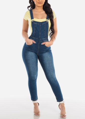 Dark Wash Denim Overall