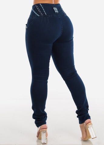 Image of Dark Wash Butt Lifting Skinny Jeans